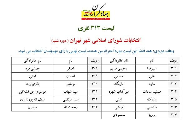 لیست جهادگران در رسانه ها