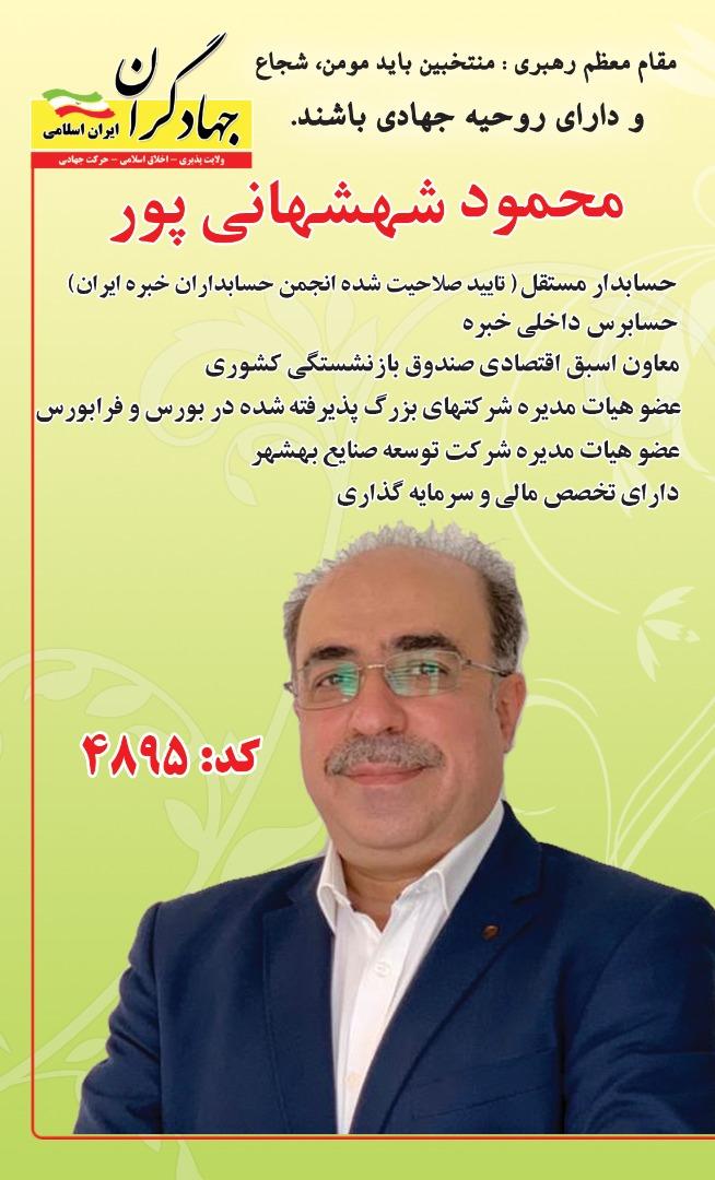 محمود شهشهانی پور