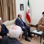رهبر معظم انقلاب اسلامی در دیدار رییس جمهوری عراق:راه مقابله با توطئه های بدخواهان حفظ اتحاد ملی در عراق است