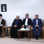 دیدار رئیسجمهور و اعضای هیات دولت با رهبر انقلاب